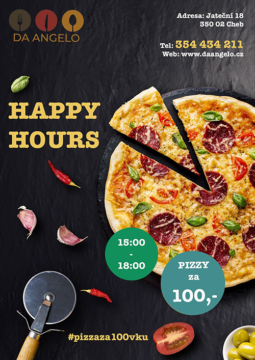AKCE pizza za 100,- vždy od 15:00 do 18:00!!!