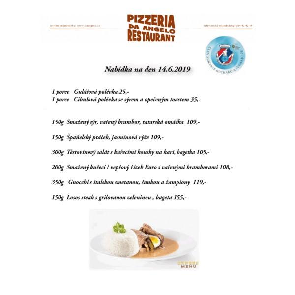 4f241a7d2 denní menu 14.6.2019 - Pizzeria & restaurant Da Angelo